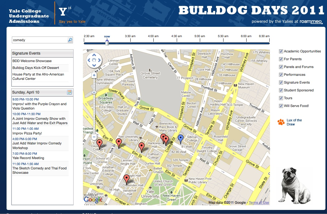 Roammeo Bulldog Days App