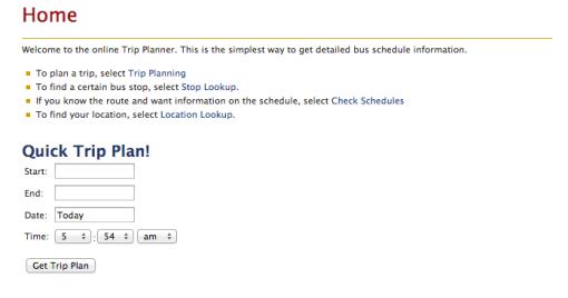 CT Transit Trip Planner